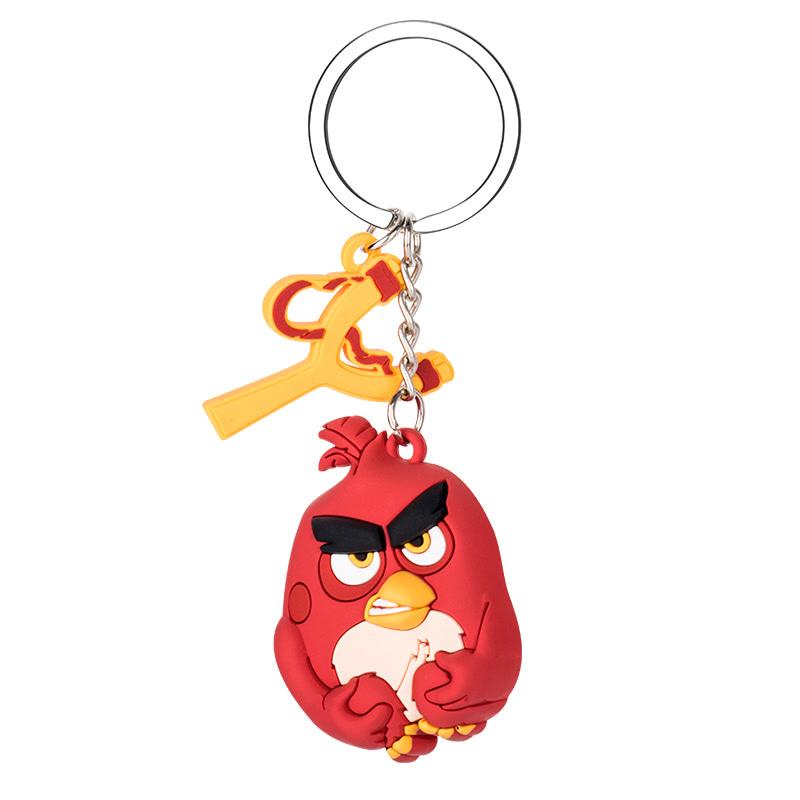 愤怒的小鸟卡通立体PVC钥匙扣